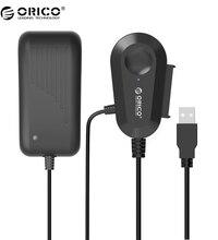 ORICO SATA USB3.0 Адаптер с 12 В 2.5A Адаптер Питания 2.5/3.5 Внешний Жесткий Диск Адаптер со Встроенным 8 дюймов USB3.0 Кабель