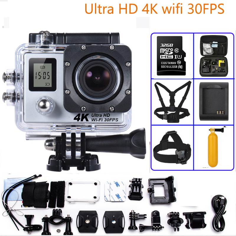 Sports Camera 4K Ultra HD 170 Degree Wide View Angle WiFi Action Camera with Allwinner V3 Action Camera 2017 original eken h9r sports action camera 4k ultra hd 2 4g remote wifi 170 degree wide angle