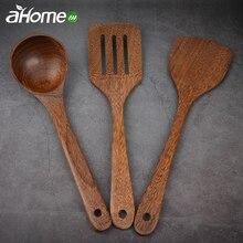 Деревянные кухонные принадлежности, Набор Антипригарной Посуды, лопата, дуршлаг, лопатка, ложка, набор кухонной посуды