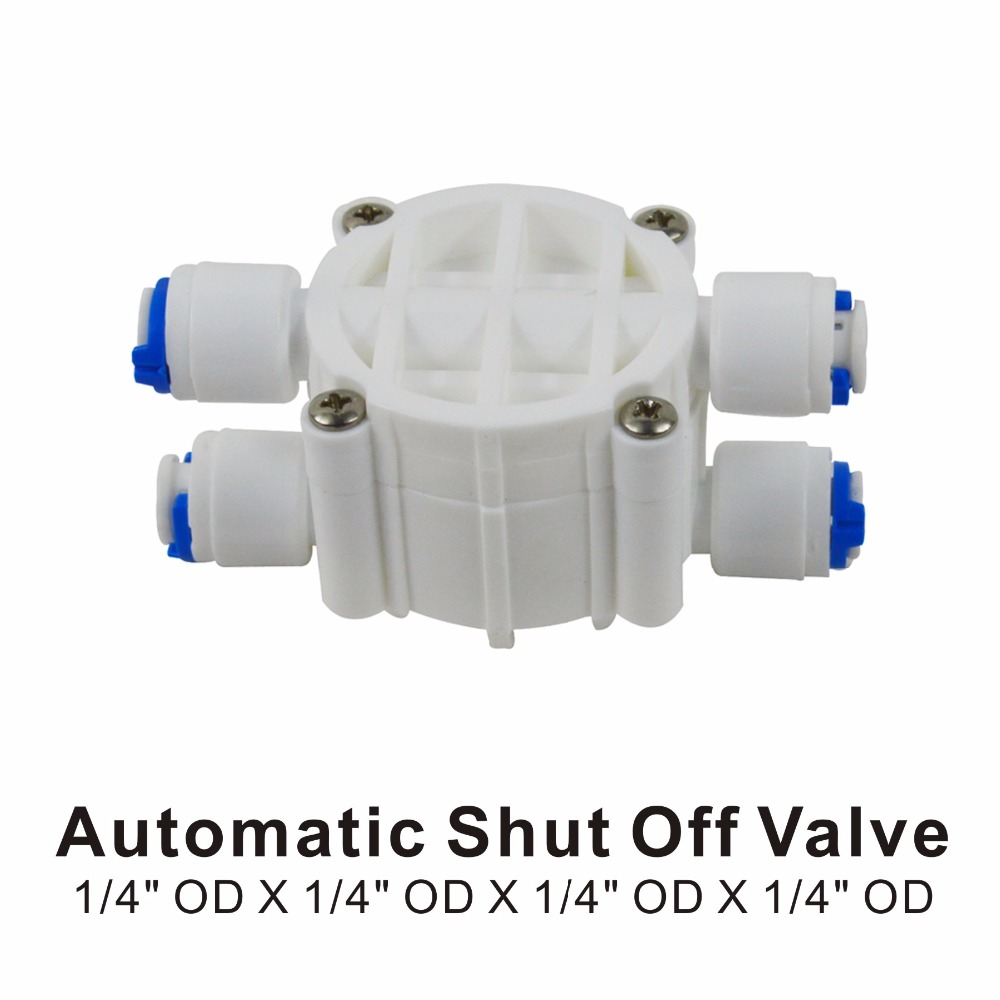 1//4 Inch 4 Way Auto Shut Off Valve For RO Reverse Osmosis Water Filter System