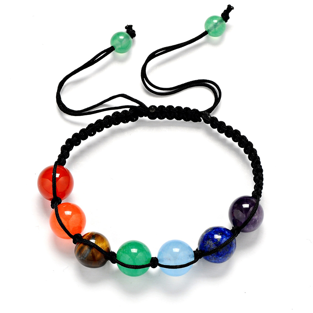 H:HYDE 2017 New 7 Chakra Bracelet Men Beads stone Reiki Buddha Prayer Natural Stone Yoga Bracelet For Women Men