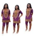 2016 África Bazin Riche E Invierno Nuevos Modelos de Explosión Sexy Teng Mapa Impresión Nacional Africano Dashiki Moda Loose Dos Conjuntos