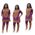 2016 Africa Bazin Riche And Winter New Explosion Models Sexy African National Teng Map Printing Dashiki Fashion Loose Two Sets