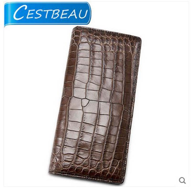 cestbeau new double sided inside and outside the crocodile men purse double fold  men's long - card crocodile leather men wallet the terror presidency – law and judgement inside the bush administration