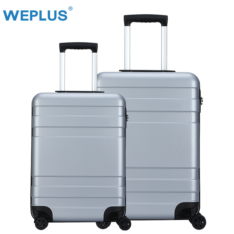 2 pcs set 20 inch 24 inch luggage  Business Travel Suitcase PC Carry on Spinner Wheel Luggage  for Woman Man  Suitcase TSA Lock