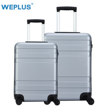WEPLUS 2 PCS/Set Rolling Luggage Colorful Travel Suitcase Carry on Spinner Wheels TSA Lock Trolley Men Women 20 24 Inch(China)