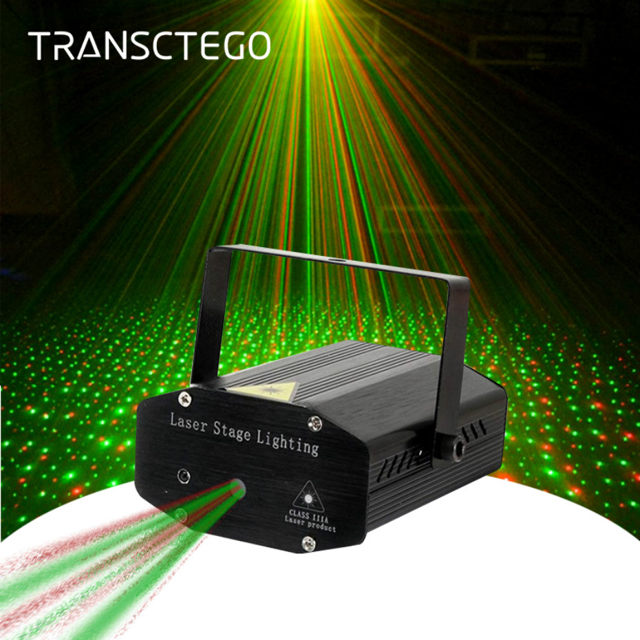 LED Laser Projector Disco Light Mini Auto Flash RG Sound Activated Laser Lamp Remote DJ Disco Party Soundlights Xmas Stage Light