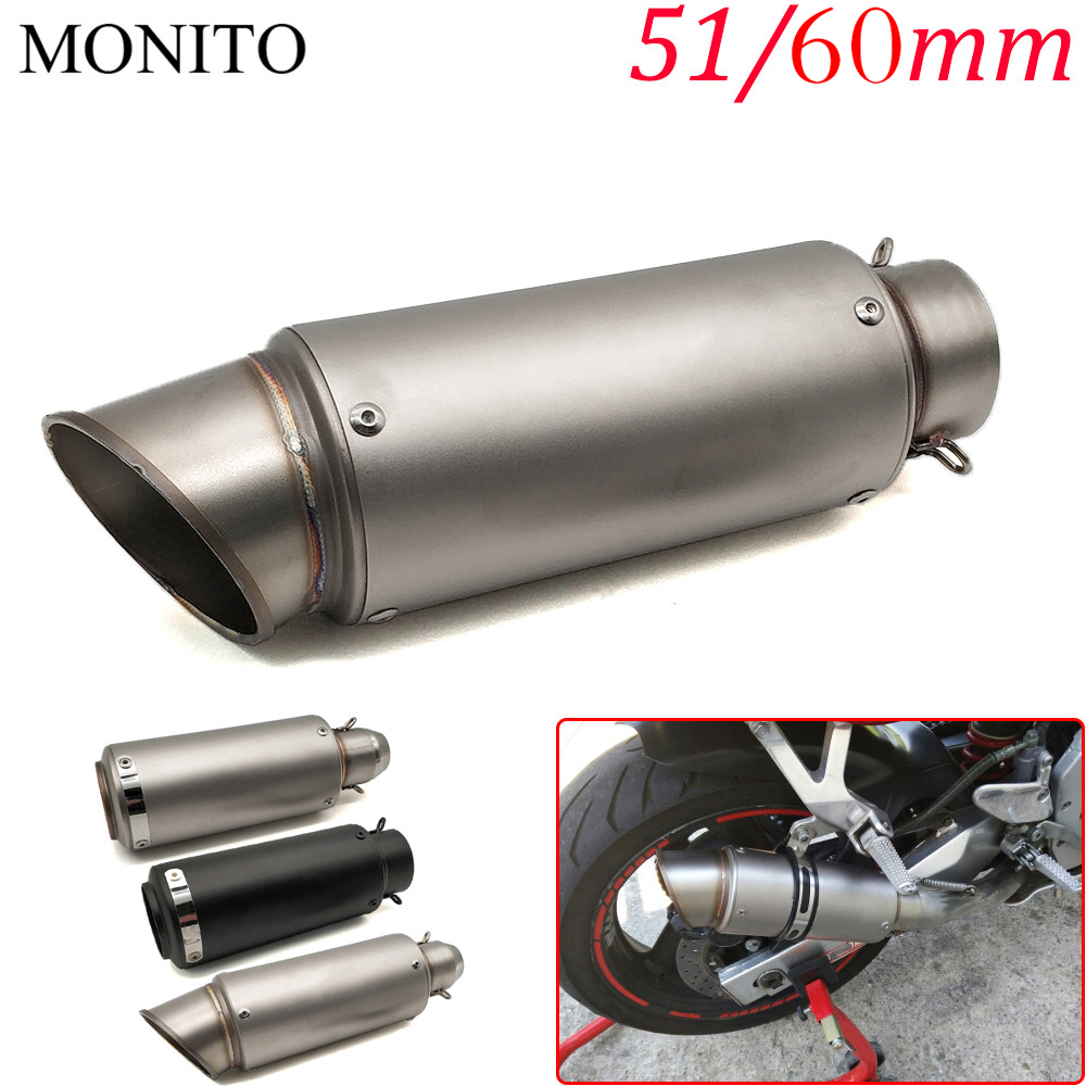For <font><b>YAMAHA</b></font> tdm 900 850 mt125 mt03 mt01 <font><b>mt</b></font> <font><b>125</b></font> 03 01 xt660 Motorcycle SC Exhaust Pipe Scooter Escape GP Exhaust Muffler Universal image