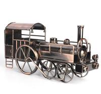 high quality Antique Style Tin Toys ancient steam locomotive 19th century train Metal Models toys for children Vintage toys
