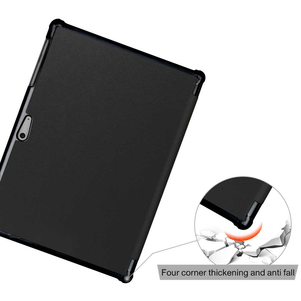 Pokrowiec na tablet microsoft Surface Go stojak na tablet pokrowiec na powierzchnię Go 10 ''ochronny foliowy stojak osłona etui czarny + prezent