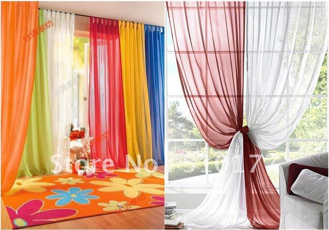 2017 Europe Gauze Curtain 16 Kind Of Color To Choose Curtains For Living Room