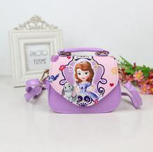 Lovely Children Girls Bags sofia Handbag Girls Accessories Kids Handbags Children PU Party princess Messenger bag for girls