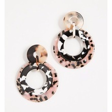 Free Shipping New Sweet Tortoise Resin Geometric Earring