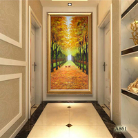 Large High Quality hand painted modern gold Tree Oil Paintings Canvas scenery picture Wall Art Landscape Picture Home Decor Gift