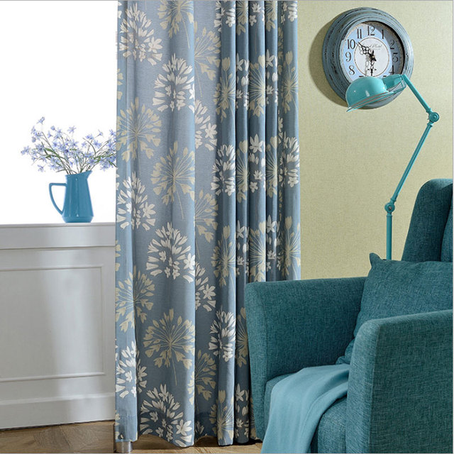 American Style Rustic Living Room Curtains Interior Decoration Home Window Treatments Cotton Floral Print Panel