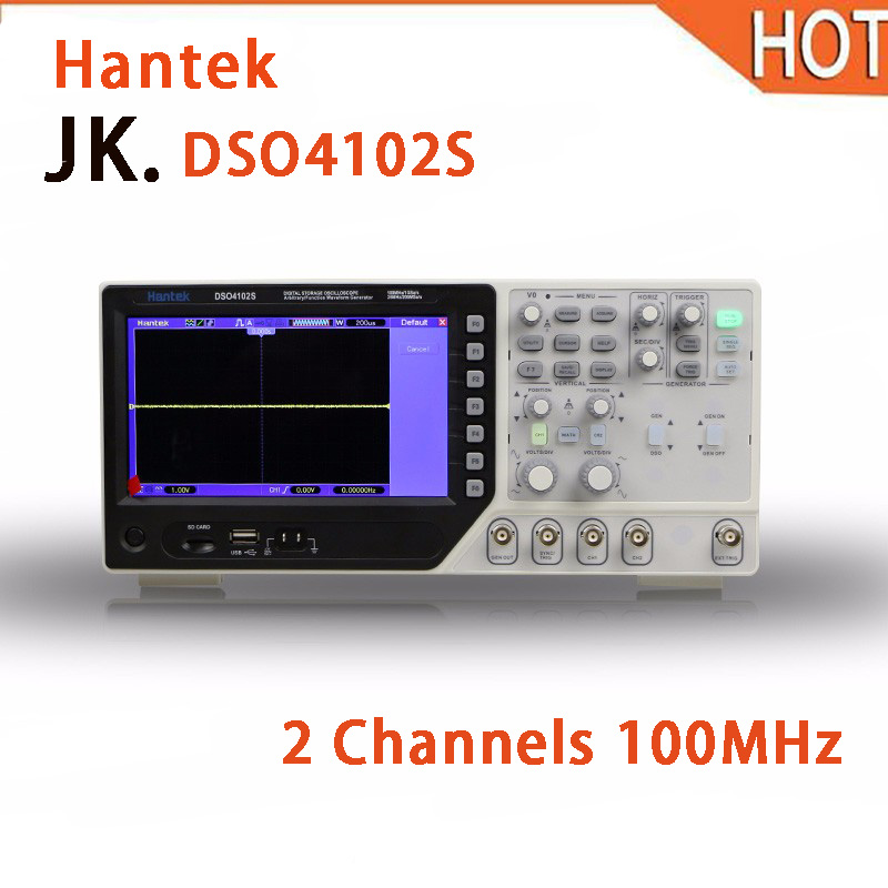 цена на 2018 HOT Hantek DSO4102S LCD Digital Osciloscopio Diagnostic-tool 2 Channels 100MHz USB Handheld Oscilloscopes