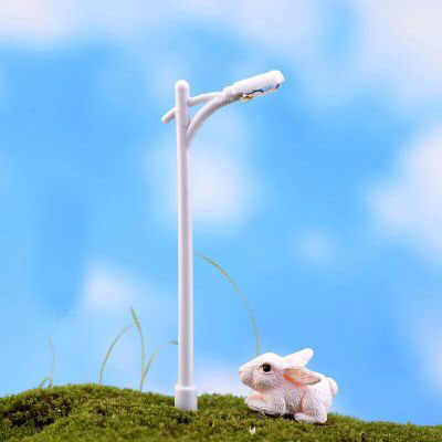 1 pièce résine artisanat Mini lampadaire lampe Antique Imitation fée Jardin maison Miniature Jardin Terrarium décor Micro paysage