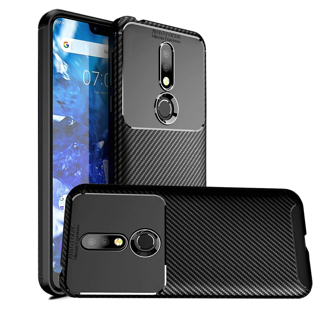 <font><b>Case</b></font> For <font><b>Nokia</b></font> 2.1 3.1 5.1 6.1 7.1 <font><b>8.1</b></font> Plus X5 X6 X7 Cover Soft <font><b>Silicone</b></font> Carbon Fiber <font><b>Case</b></font> For <font><b>Nokia</b></font> 9 Pureview 4.2 1 Plus Cover image