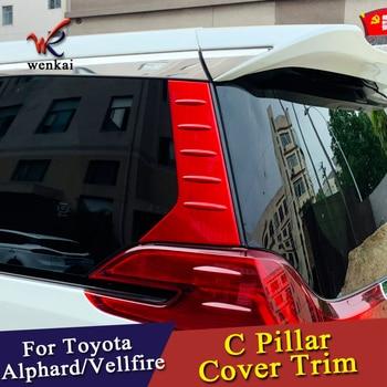 Auto Zubehör C Säule Hinten Fenster Viertel Abdeckung Garnieren Rot Für Außen Toyota Alphard Vellfire 3rd Gen