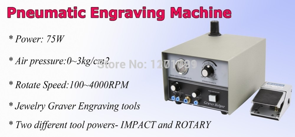 Pneumatic Engraving Machine Double Ended Impact Jewelry Engraver