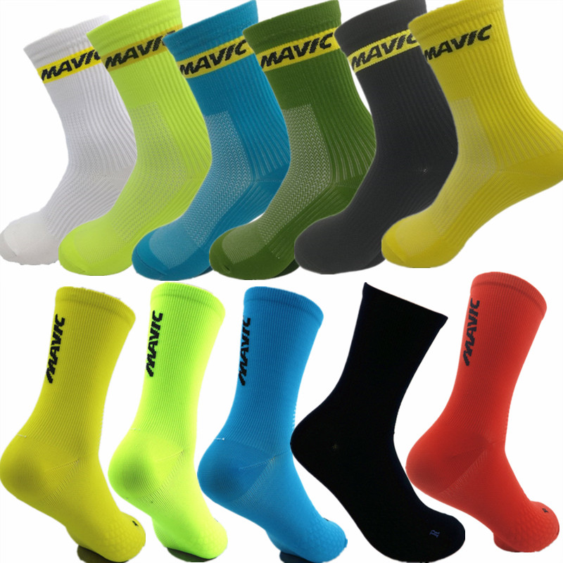 Unisex Bike Bicycle Cycling Riding Breathable Cycling Socks Footwear Basketball Football Socks