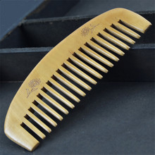 Natural Health Care Comb Anti-static Peach Wood Hair Comb Curved Shape Of Natural Sandalwood Comb Popular