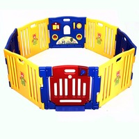 New Baby Playpen Kids 8 Panel Safety Play Center Yard Home Indoor Outdoor Pen Free Shipping