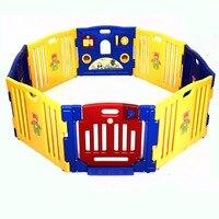 New Baby Playpen Trẻ Em 8 Bảng Điều Chỉnh An Toàn Trung Tâm Vui Chơi Sân Home Trong Nhà Ngoài Trời Bút BB4211