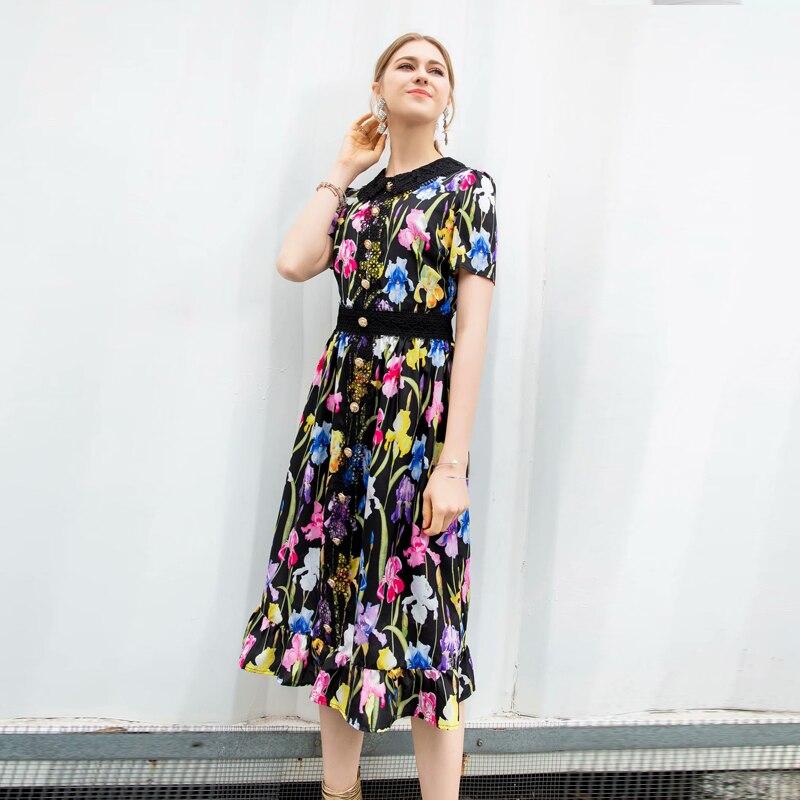 Plage Mousseline Partie Imprimer Nouvelles De D'été Robe Dentelle Vintage Mode Multi En Qualité 2019 Boho Femmes Haute Sexy Robes Fleur Élégant Longue BPRqzgwnz