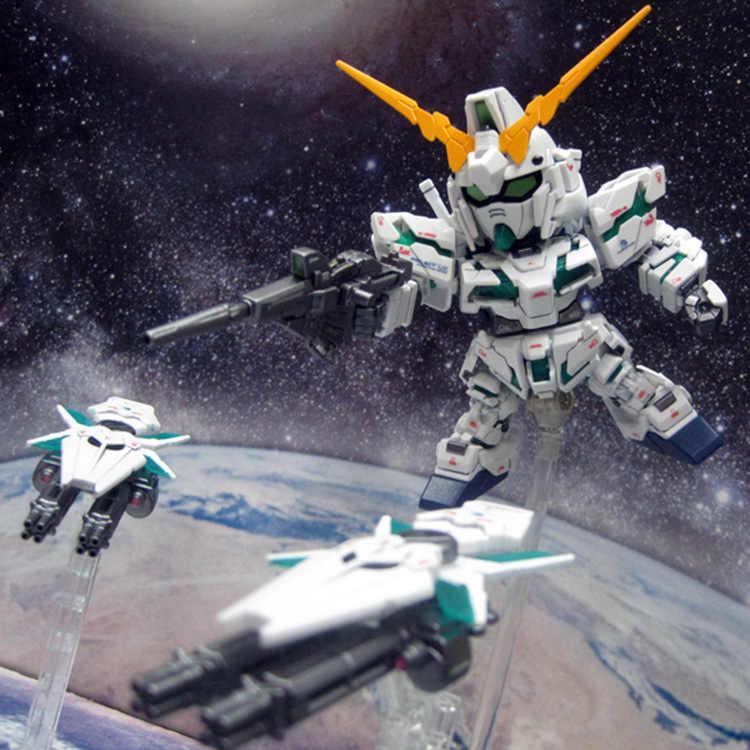 Hot SD uper Deformed traje móvil Gundam cu RX-0 armadura completa unicornio Gundam ensamblaje modelo juguetes colección para regalos