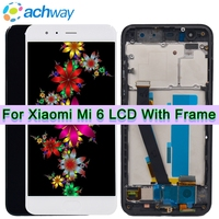 Xiaomi Mi6 LCD Display + Touch Screen 100% New FHD Digitizer Assembly Replacement 5.15 Xiaomi MI 6 LCD MI6 Mobile Phone Parts