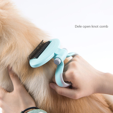 Pet Dog Cat Fur Knot Cutter Remove Rake Grooming Shedding Brush Comb Rake For Dog dele q 003 dog comb pet brush rake metal blade