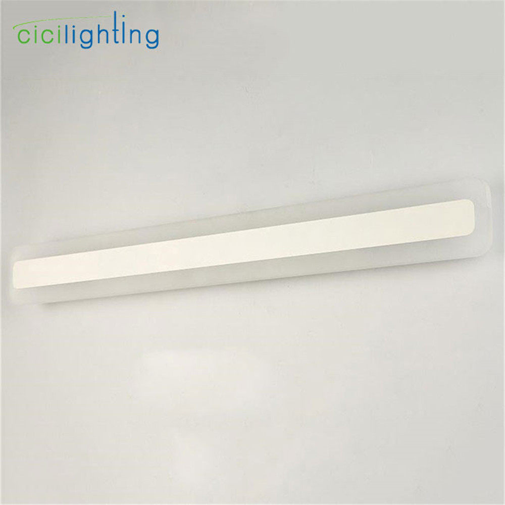 Image 4 - 110/240V L40cm 50cm 60cm 70cm modern art decor acrylic bathroom mirror light long vanity make up wall lamp milky toilet lighting-in LED Indoor Wall Lamps from Lights & Lighting
