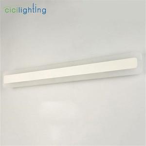 Image 5 - 110/240V L40cm 50cm 60cm 70cm מודרני עיצוב אמנות אקריליק אמבטיה מראה אור ארוך יהירות איפור קיר מנורת חלבי אסלה תאורה