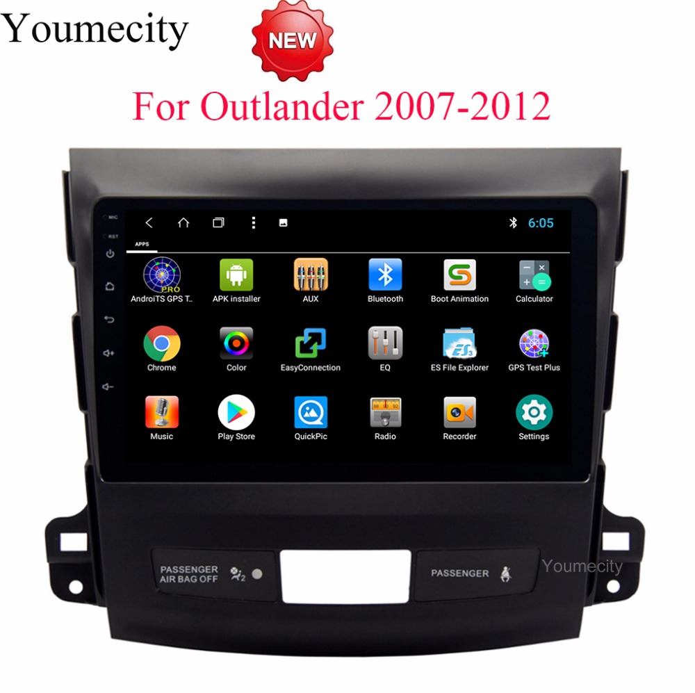 Android 8.1 Car DVD for Mitsubishi Outlander 2007-2013 3G/4G GPS radio video Multimedia player Capacitive IPS Screen wifi USB цена