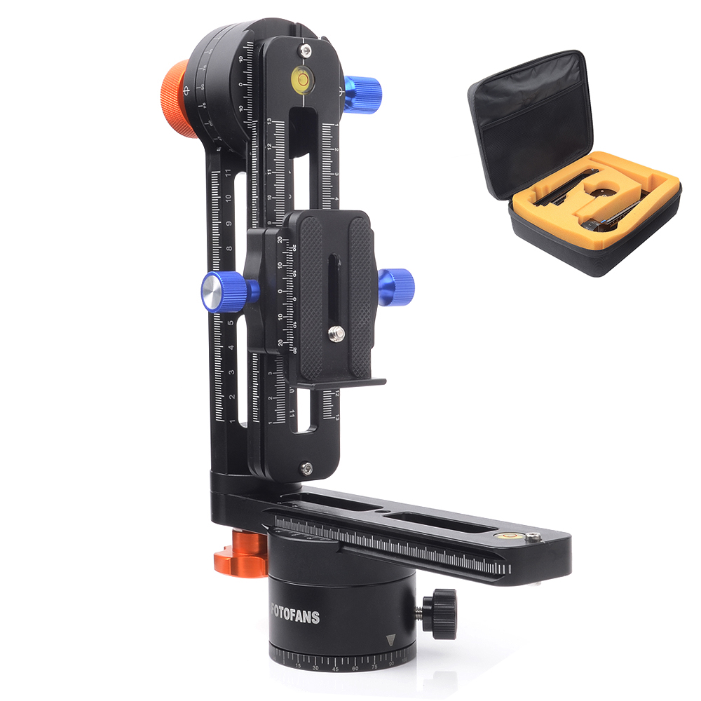 FOTOFANS 5th Generation Pro Panoramic Camera Tripod Kit Ball Head Gimbal Bracket Plate Rail Slider 720 Degree Rotated with Bag