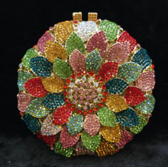 New Women Elegant Beaded Eveningbags Crystal Clutches Handmade Wedding Clutch Purse Flower Diamonds Evening Bags Chain Lady mystic river designer pearl bags circle shape beaded clutches women wedding bag with chain lady evening clutch purse