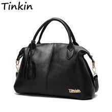 Tinkin New Arrival High Capacity Women Shoulder Bag Soft Casual Handbag Daily Use Totes All Match Messenger Bag