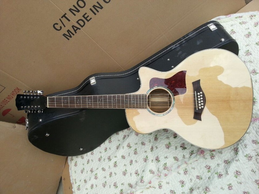 2018 New Factory 12 strings Chaylor 812 acoustic guitar TY 12 string 814ce acoustic electric guitar