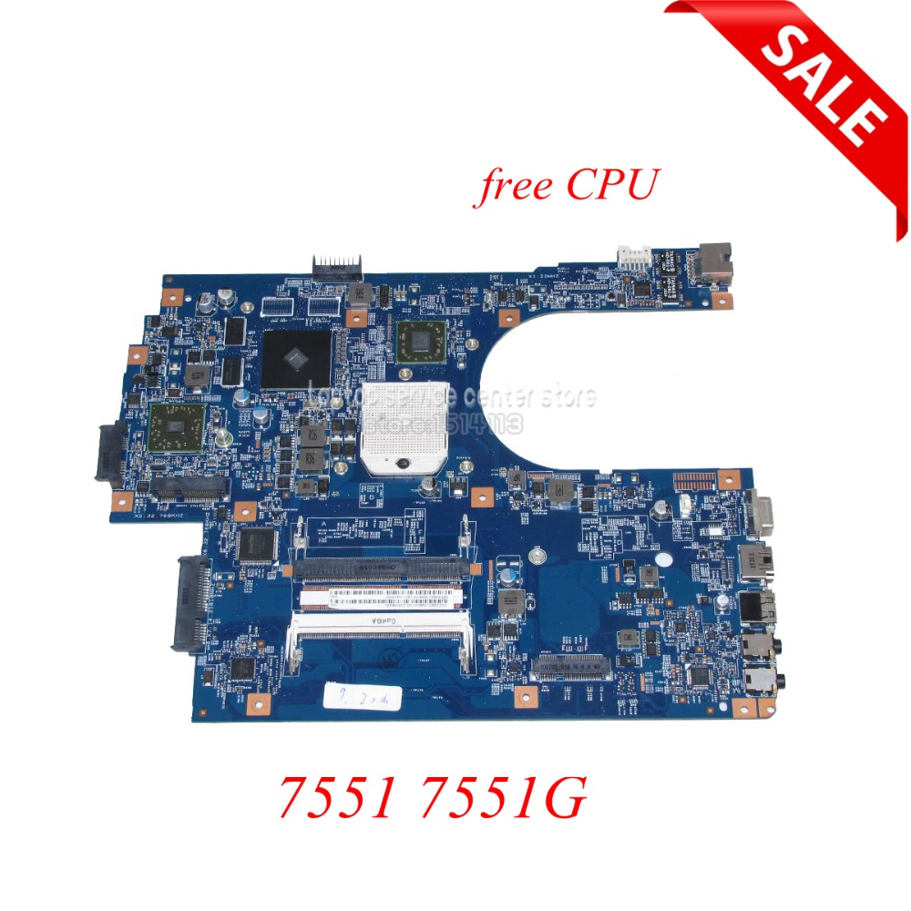 NOKOTION JE70-DN MB 09929-1 48.4HP01.011 MBBKM01001 Main Board For Acer Aspire 7551 7551G Laptop Motherboard HD5470 Free Cpu