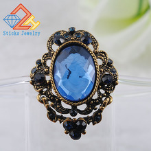 Classic retro style alloy brooch jewelry beauty head brooch glass factory direct free shipping недорого