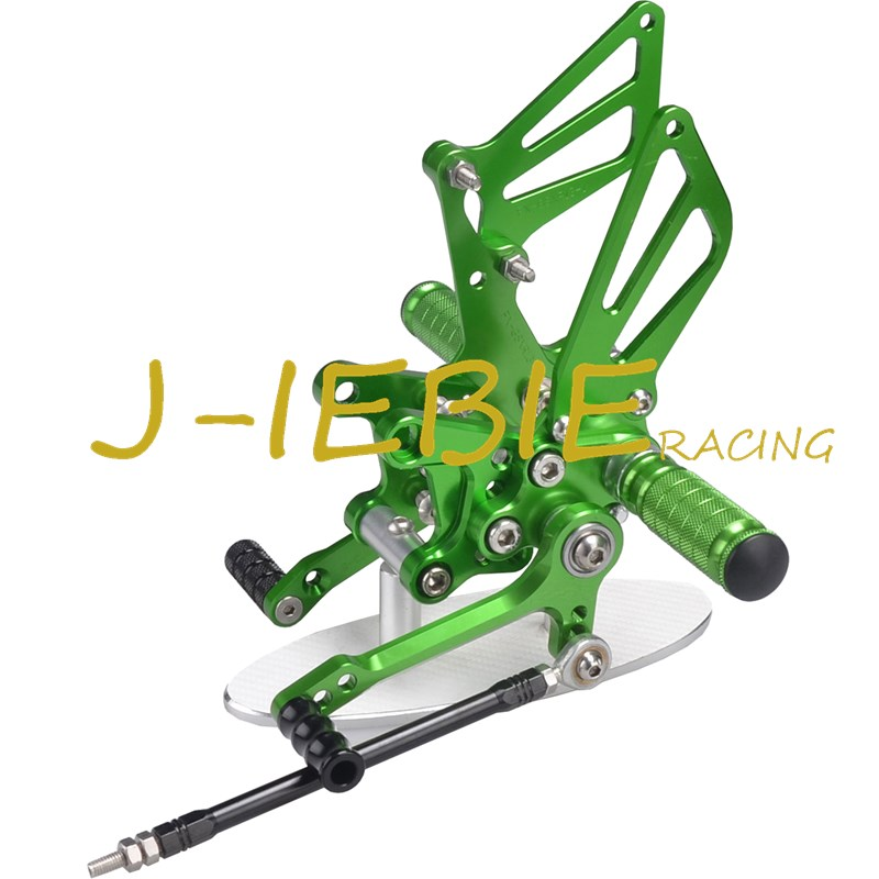 CNC Racing Rearset Adjustable Rear Sets Foot pegs For Suzuki GSXR1000 2001-2004 GSXR600 GSXR750 2001-2005 SV650 SV1000 GREEN adjustable rider rear sets rearset footrest foot rest pegs gold for suzuki gsxr600 gsxr750 gsxr 600 750 2011 2012 2013 2014 2015
