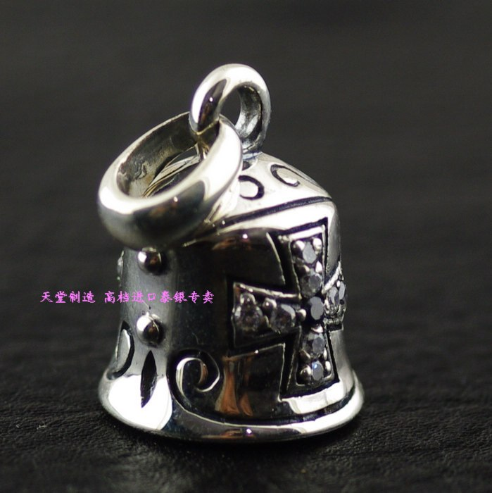 Thailand imports, 925 Sterling Silver Zircon Pendant Silver Bells of evil thailand imports skull blood new skeleton silver ring