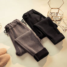 Autumn Winter Knitted Harem Pants Women Vintage Warm Thicken Sweatpants Trousers Women Casual Streetwear High Waist Pants Q992