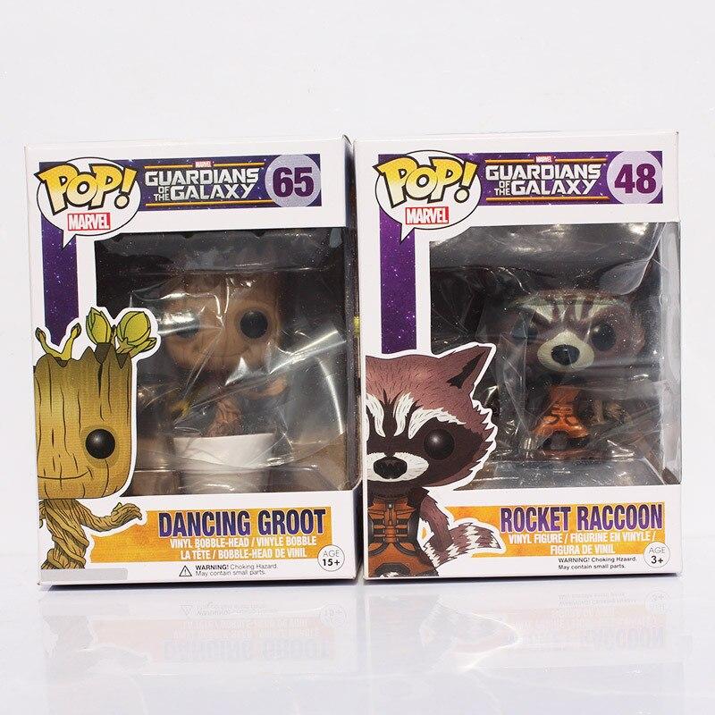 New Funko POP Guardians of the Galaxy Tree People Groot & Rocket Raccoon PVC Figure Dolls With Box 8-10cm new funko pop guardians of the galaxy tree people groot