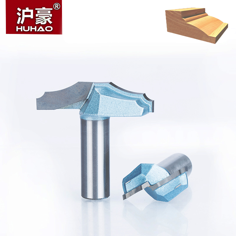 HUHAO 1pc 1/2 Shank Trimmer Router Bits For Wood Tungsten Carbide Woodworking Engraving Endmill Tools For Hard Wood MDF huhao 1pc 1 2 1 4 shank drawing line