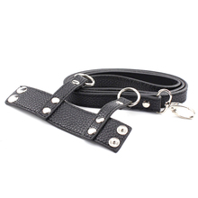 Leather Bondage Penis Ring Cock Strap And Ball Stretcher Cock Ring Male Chastity Sex Products Penis Sex Delay Ring For Man