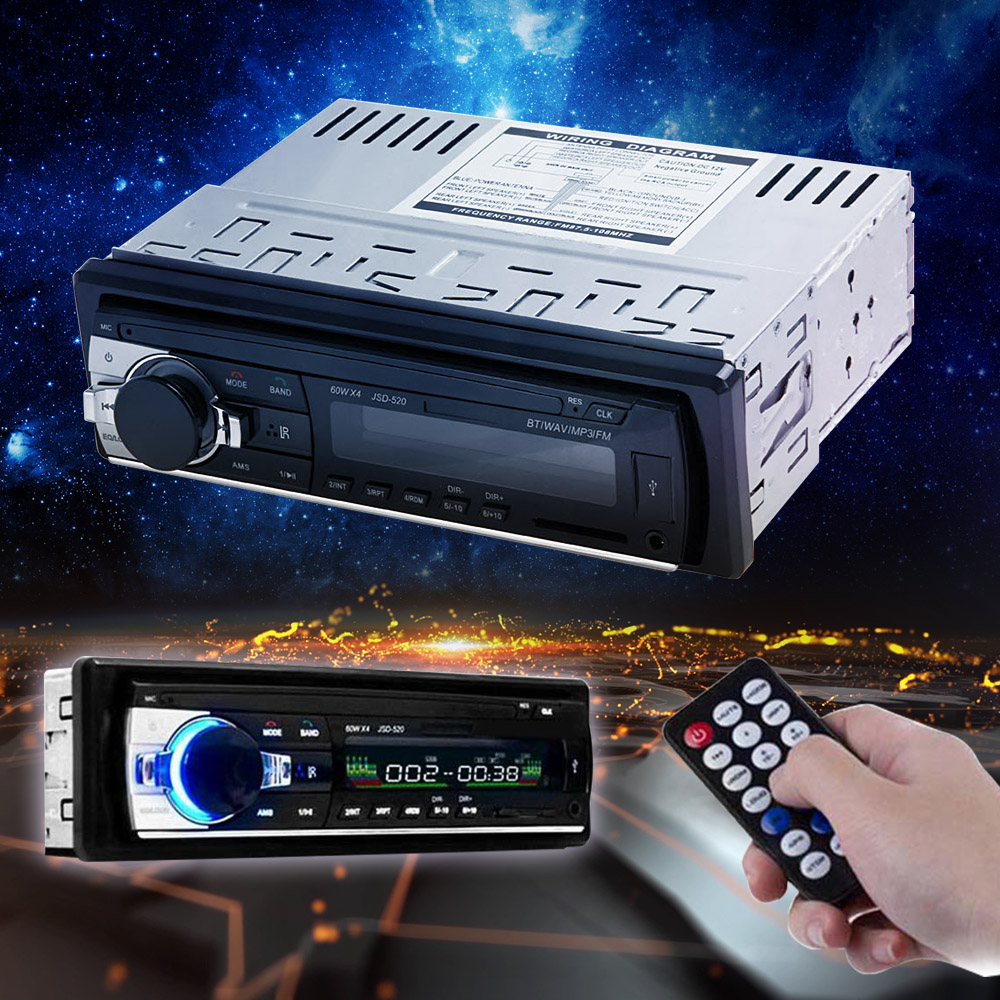 New Arrival Car Audio Stereo with In-Dash FM Radio MP3 Player Support Bluetooth USB SD AUX-In Port for Vehicle Auto Radio Device