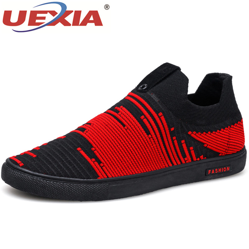 UEXIA Spring/Summer Men Shoes Breathable Comfortable Boys Mens Shoes Casual Fashion Lace-up Mesh Shoes Flats Zapatillas Hombre ...