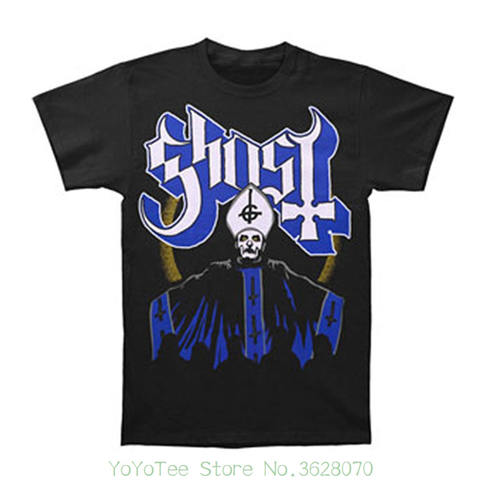 O Neck Tee Shirt Short Sleeve Ghost B.c. Men&#039 ; S Papa &amp ; Band T-shirt Small Black ...